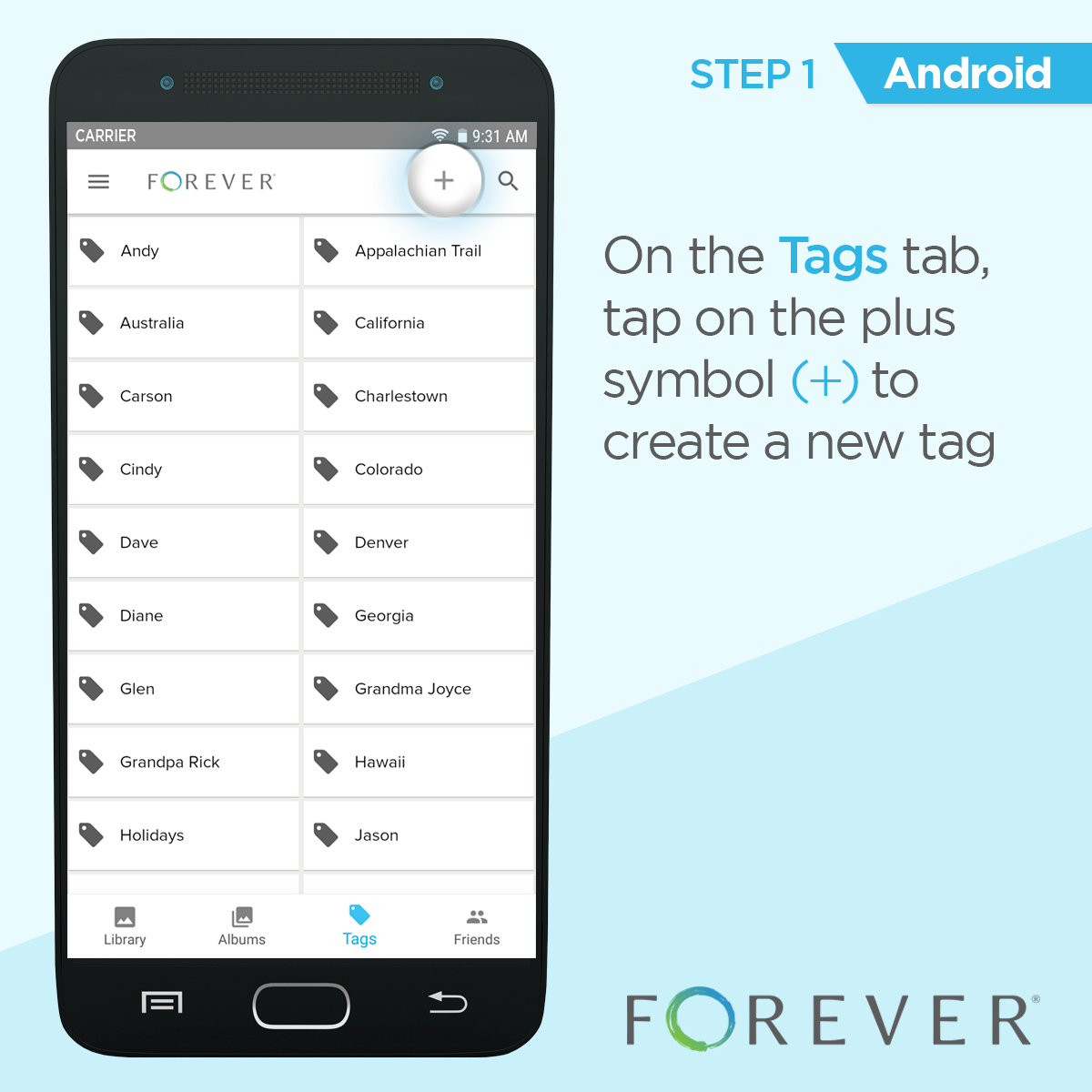 How do i create a tag in the android application for How do i design an app