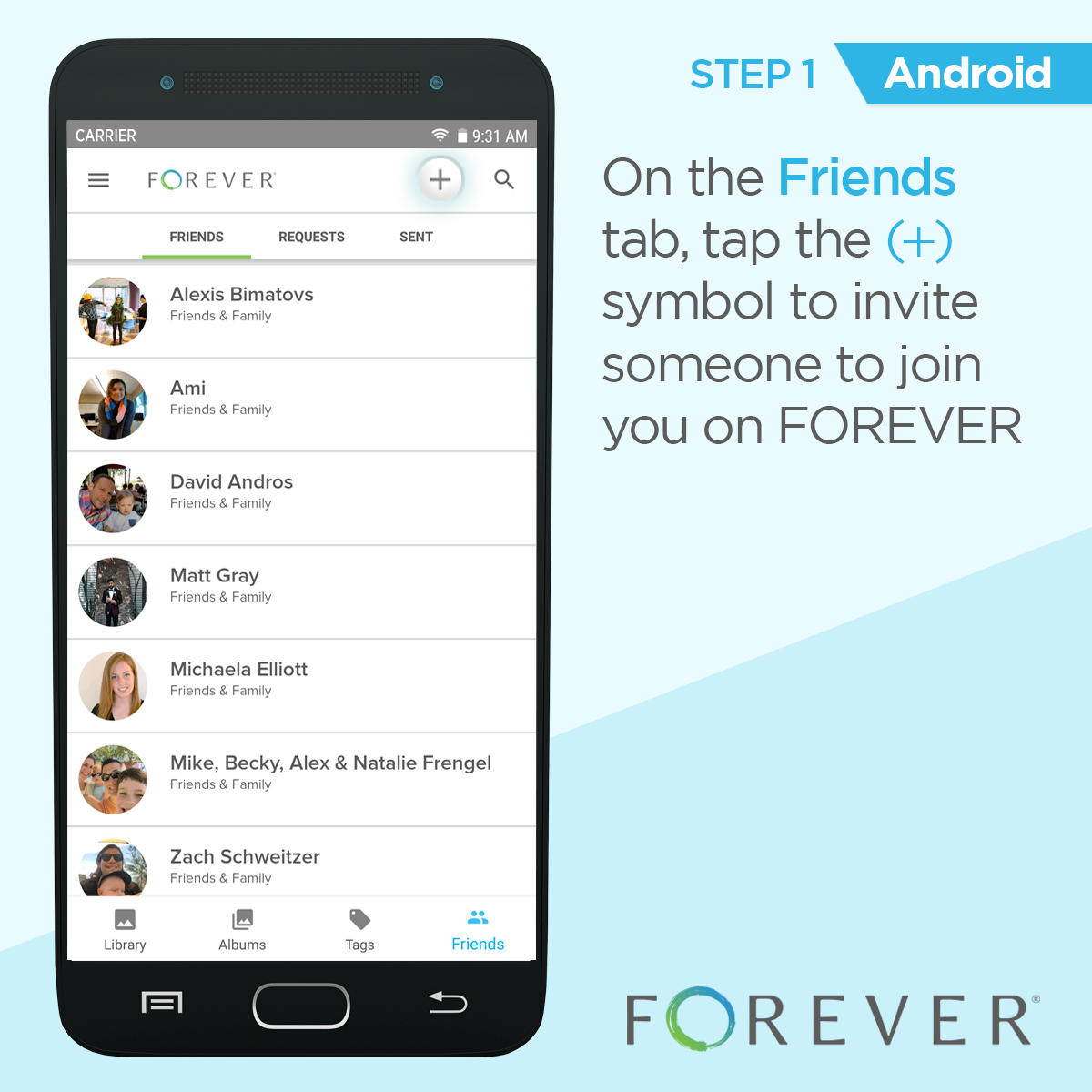 Friends app android